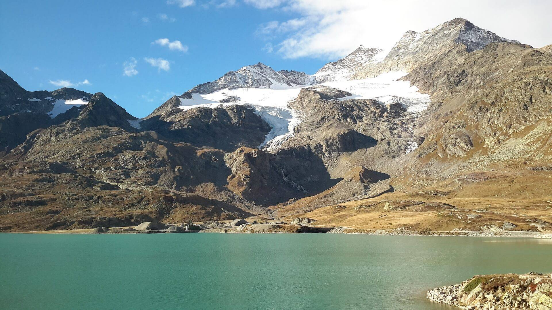 Swiss Mountains - Lake Bernina